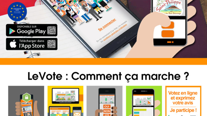 1er scrutin de l'application LE VOTE